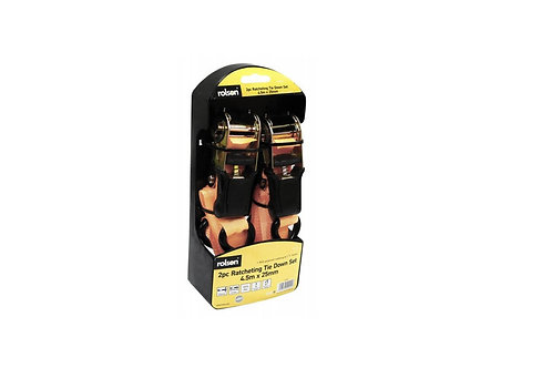 Ratchet Tie Down 2pc 25mm (44202)