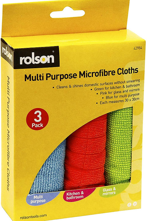 3 Pcs Multi-Purpose Microfibre Cloths (42984)