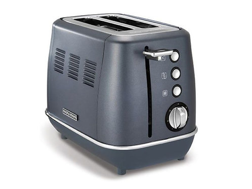 MORPHY RICHARDS TOASTER 2 SLICE STAINLESS STEEL & BLUE 900W (224402)