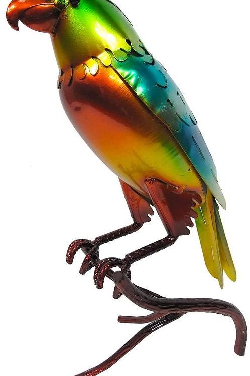 Glazed Blue/Green Parrot Garden Ornament (84028)