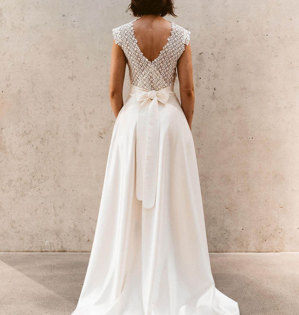 Zweiteiler Brautkleid Standesamtkleid Is