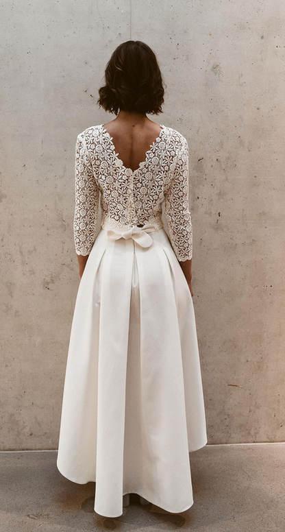 Zweiteiler Brautkleid Standesamtkleid Isweiteiler Brautkleid Standesamtkleid Is