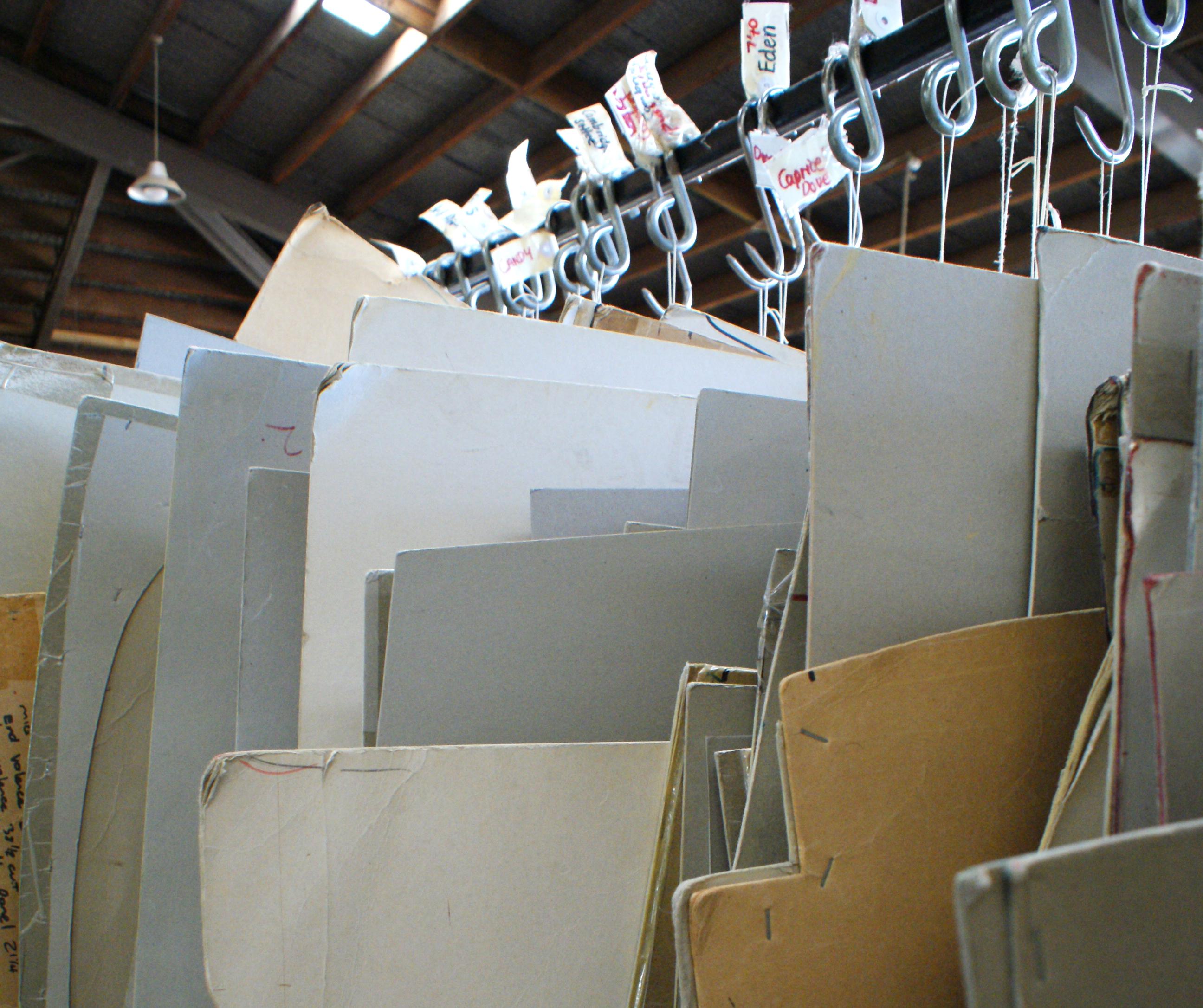 Templates of furniture designs