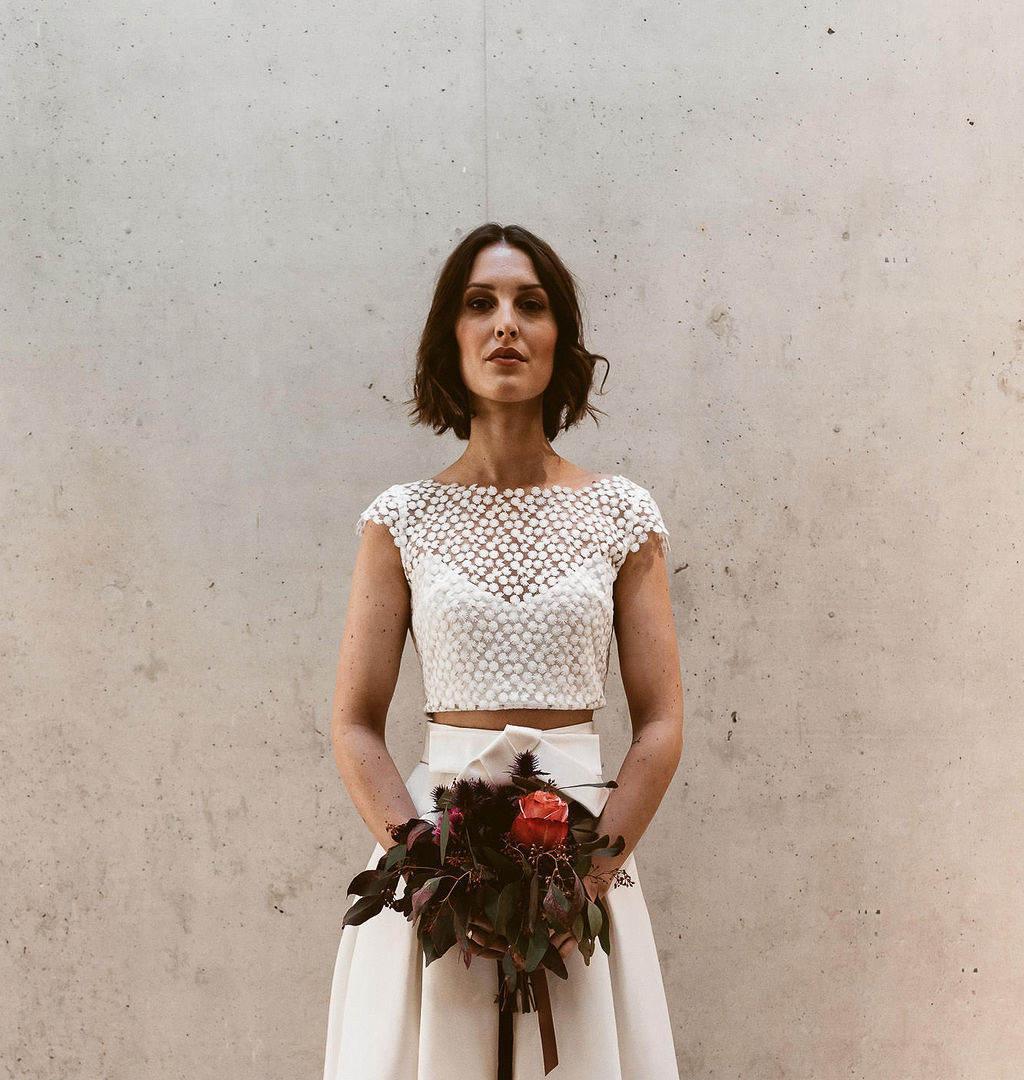 Zweiteiler Brautkleid Standesamtkleid IsZweiteiler Brautkleid Standesamtkleid Is
