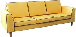 Lyon 3 Seater with contrast piping