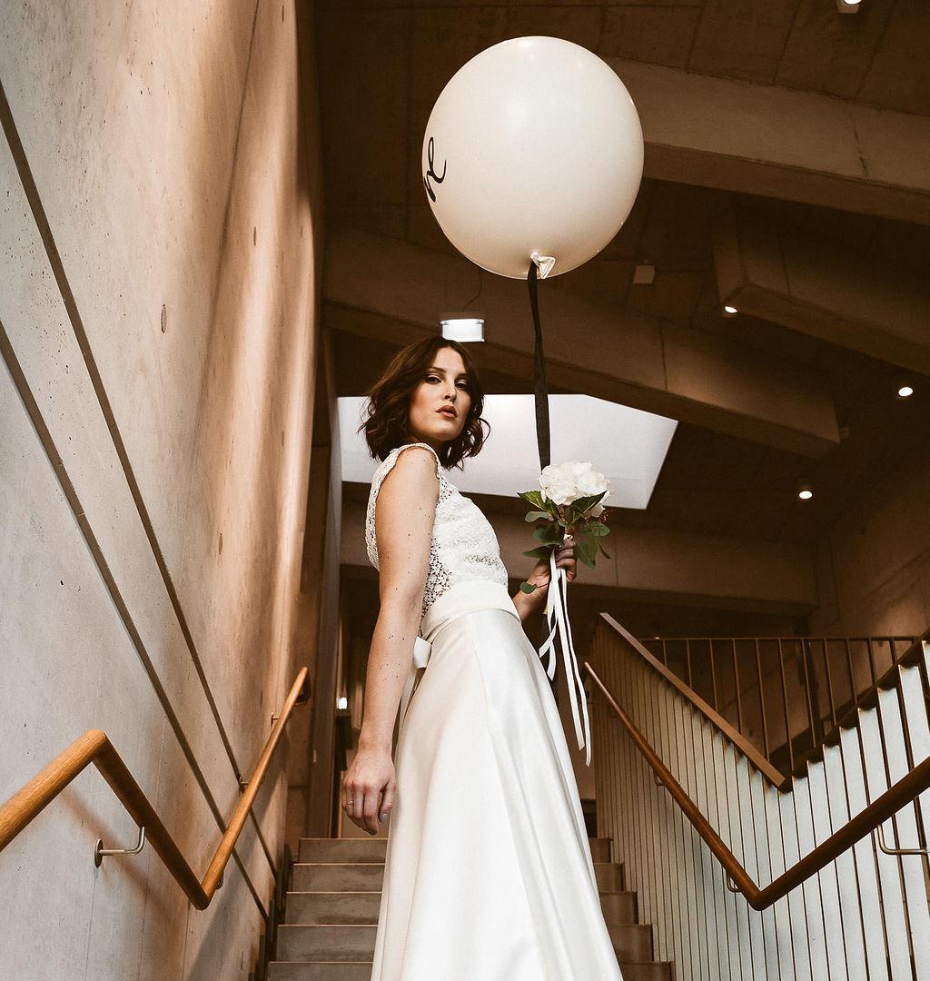 Zweiteiler Brautkleid Standesamtkleid Isi Lieb