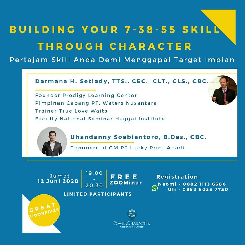Building Your 7 - 38 - 55 Skill Through Character