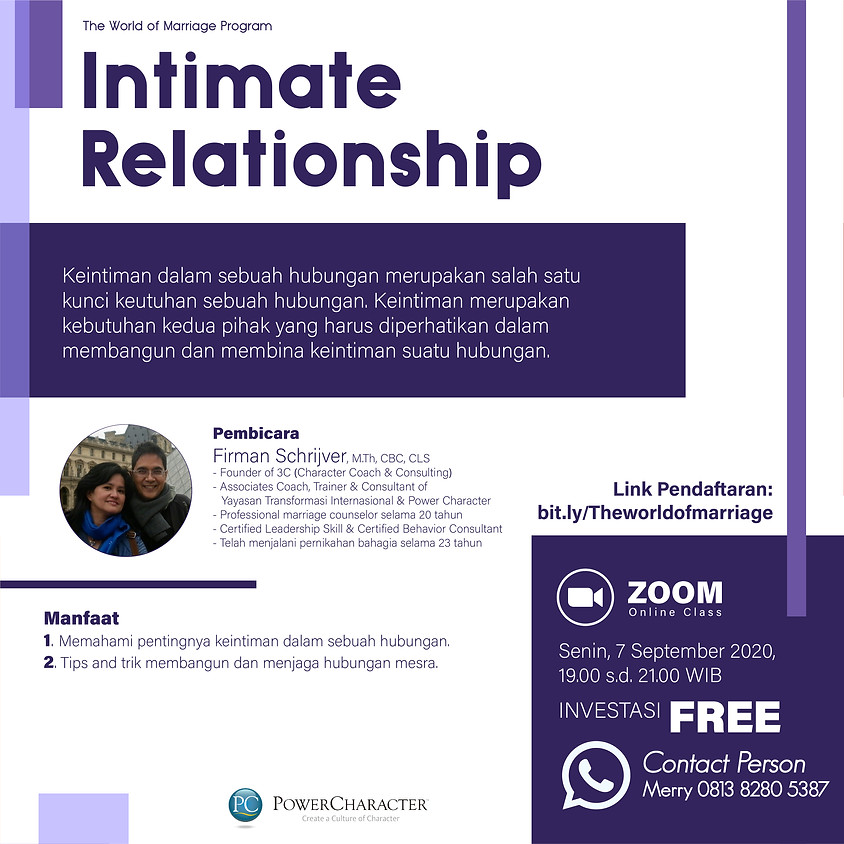 The World of Marriage – Intimate Relationship