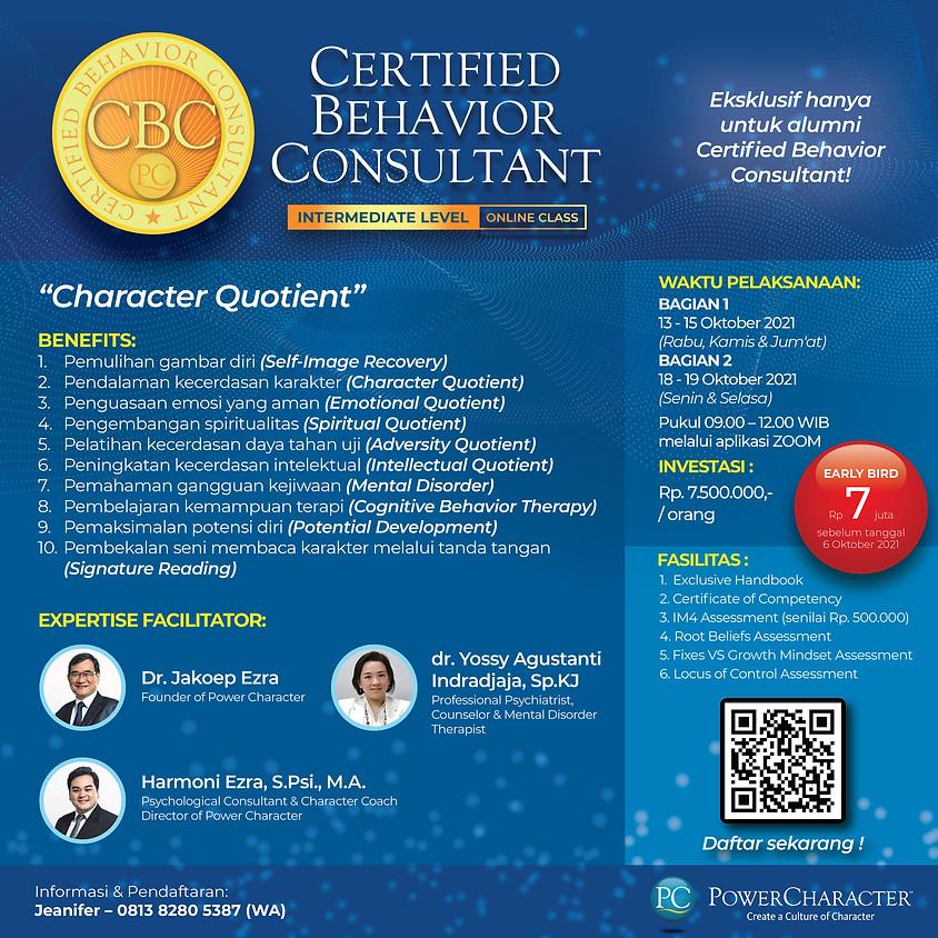 Certified Behaviour Consultant Intermediate - Online Class
