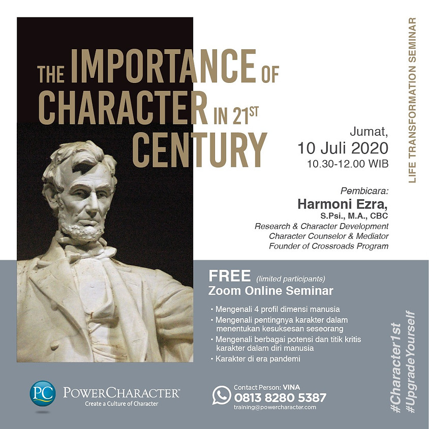 The Importance of Character in 21st Century