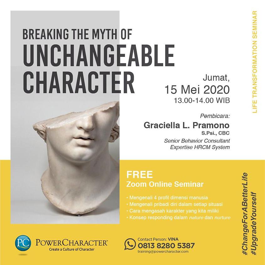 Breaking The Myth of The Unchangable Character