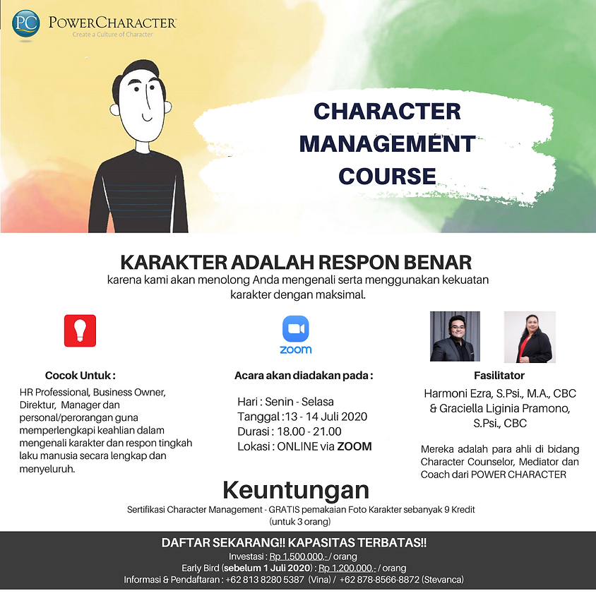 Character Management Course