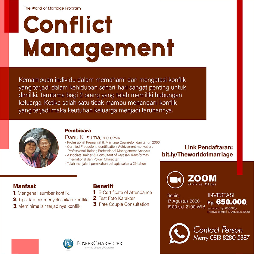 The World of Marriage – Conflict Management