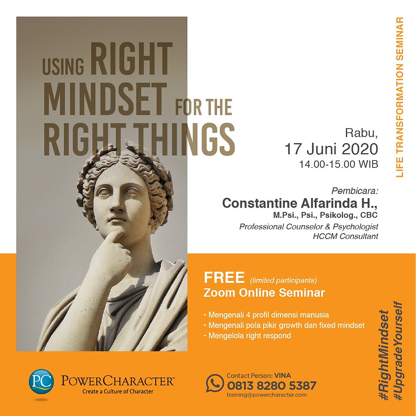 Using The Right Mindset for the Right Things