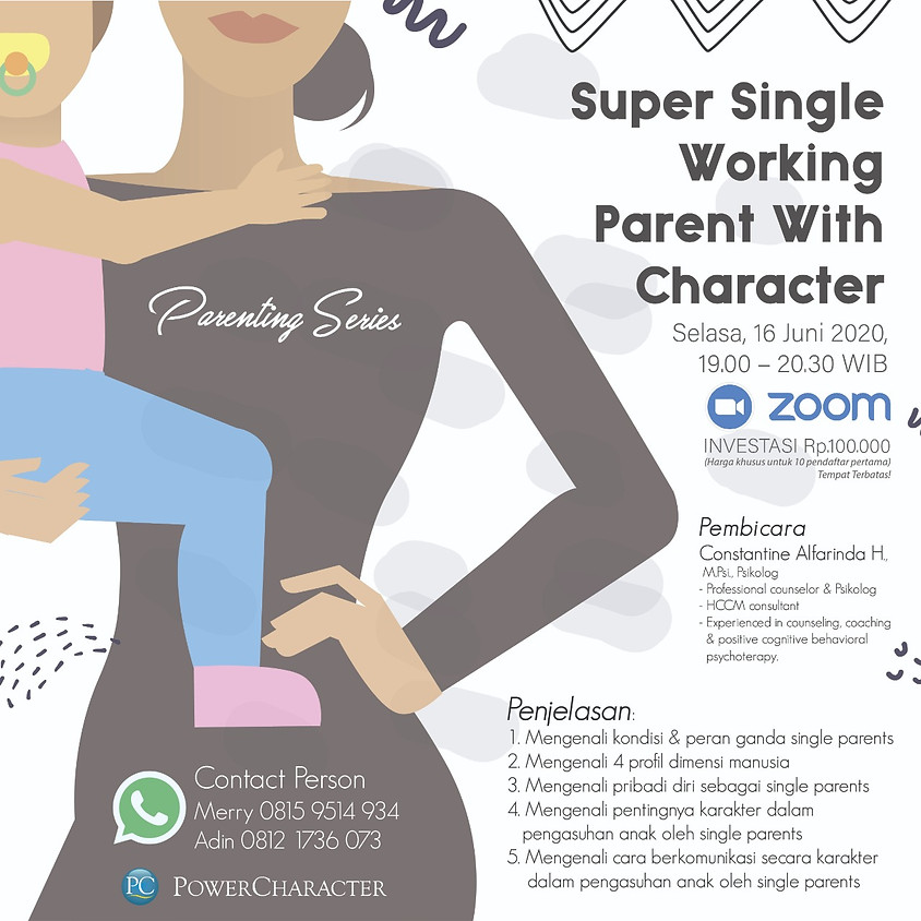Super Single Working Parent With Character