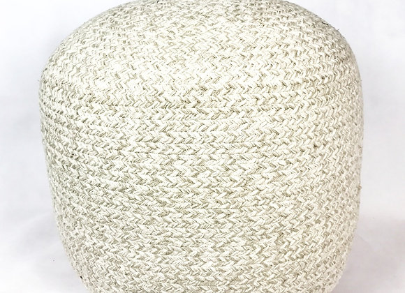 Knitted Cream Ottoman