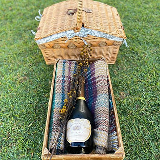 Gourmet picnic hamper with bubbles - enj