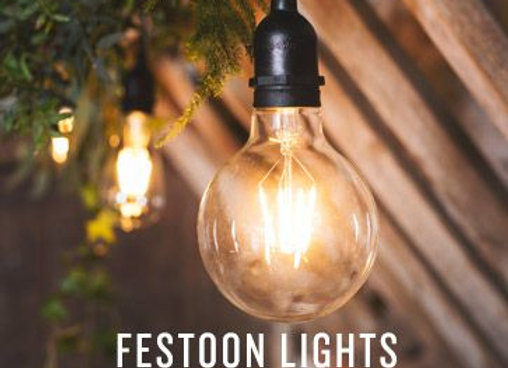 Black Festoon Light Kit (warm light)
