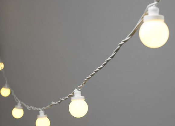 White Festoon Light Kit (warm light)