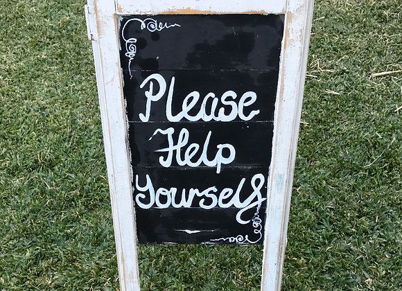 Rustic 'Help Yourself' Sign