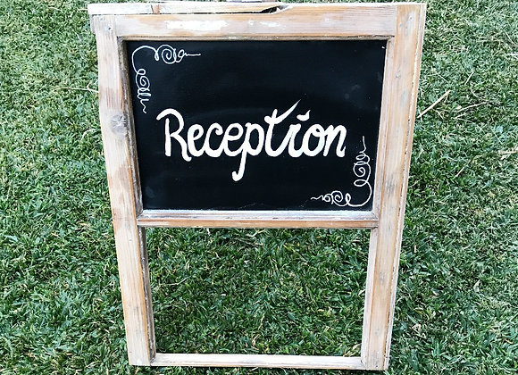 Rustic Reception Sign