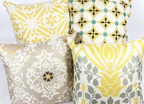 Set of 4 Cushions (Yellow)