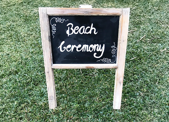Rustic Beach Ceremony Sign