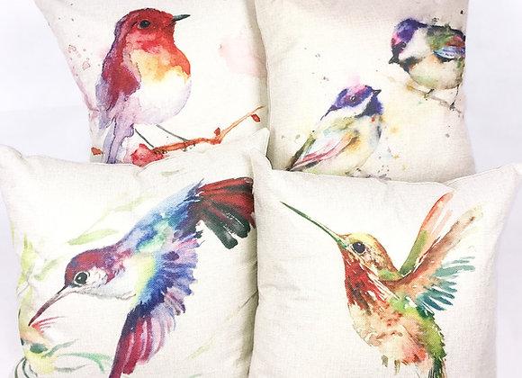 Set of 4 Cushions (Birds)