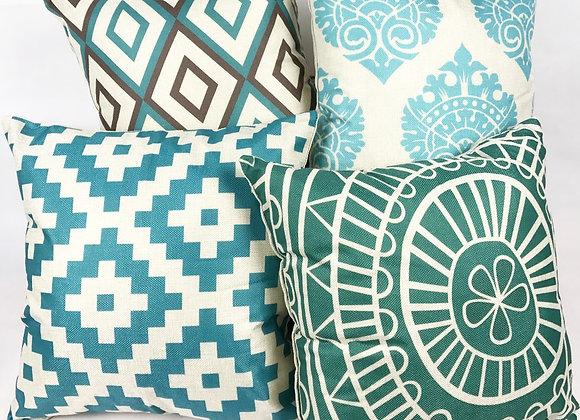 Set of 4 Cushions (Blue)