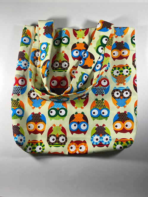 OWL Reversible Tote - 100% Cotton