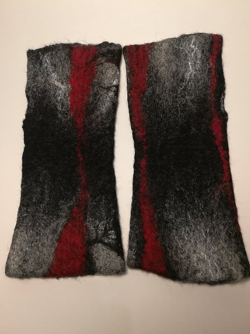 Fingerless Gloves / Wrist Warmers - Black