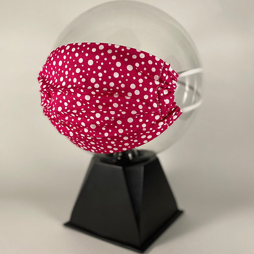 Pink Spotty  - 100% Cotton Face Mask