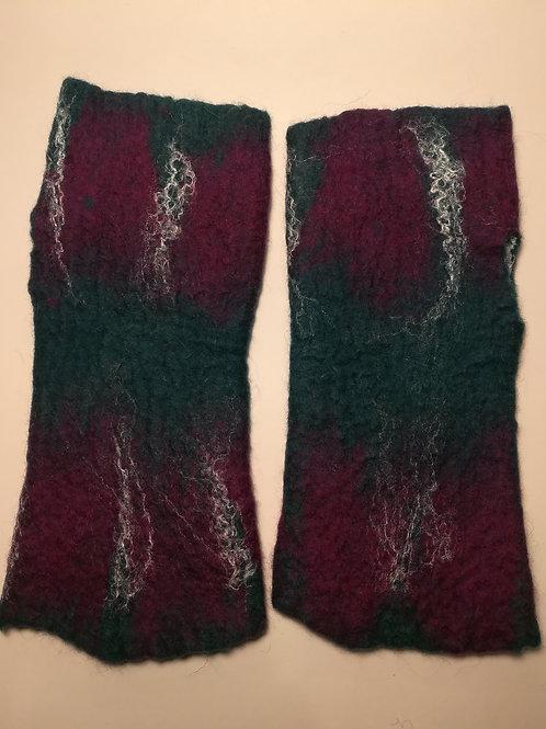 Fingerless Gloves / Wrist Warmers - Green