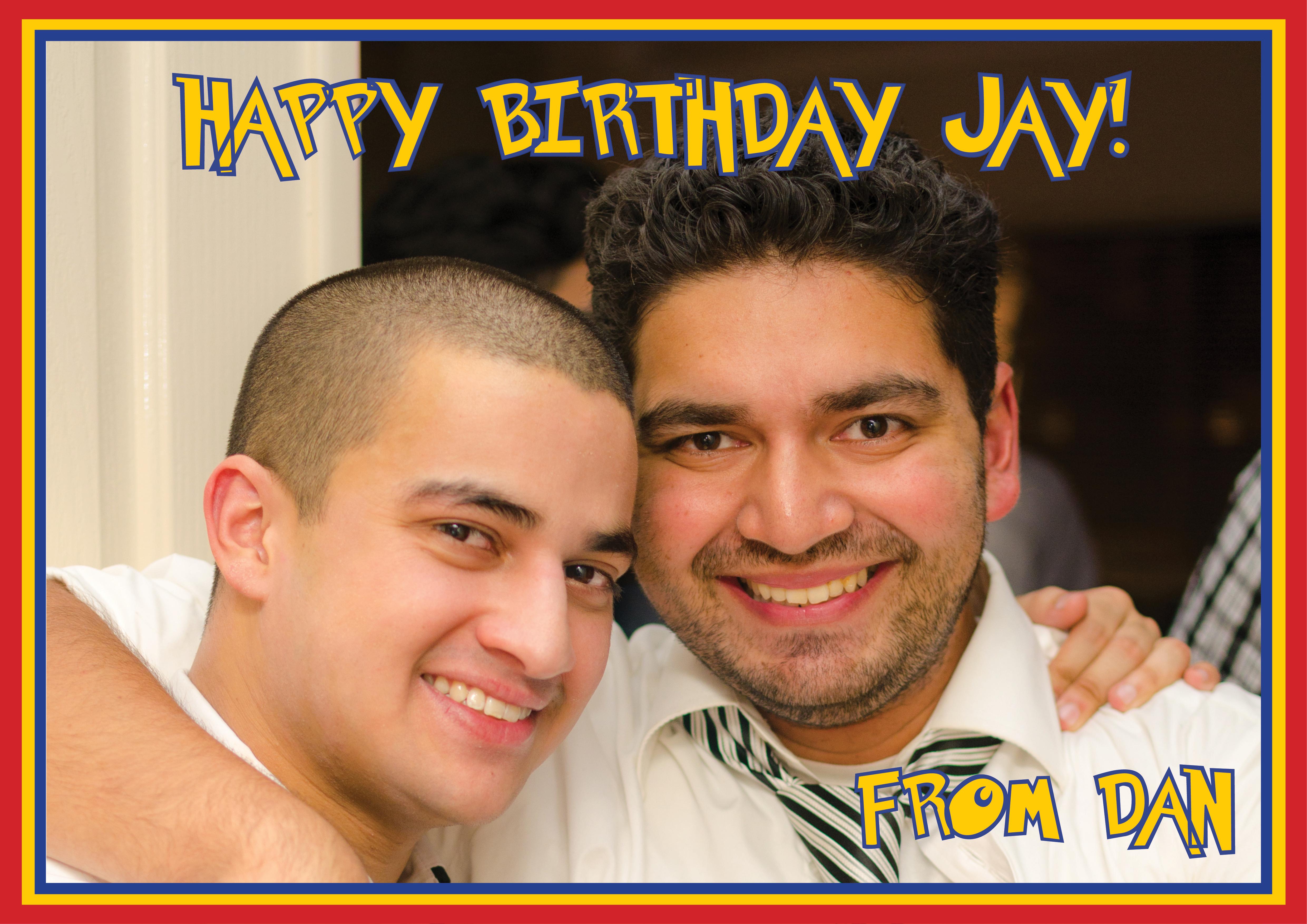 Jay's30th Brithday Card