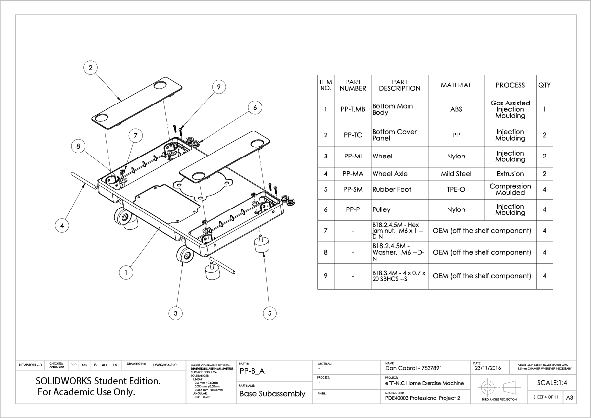 4. eFIT-N.C Engineering Documentation - Technical Drawings
