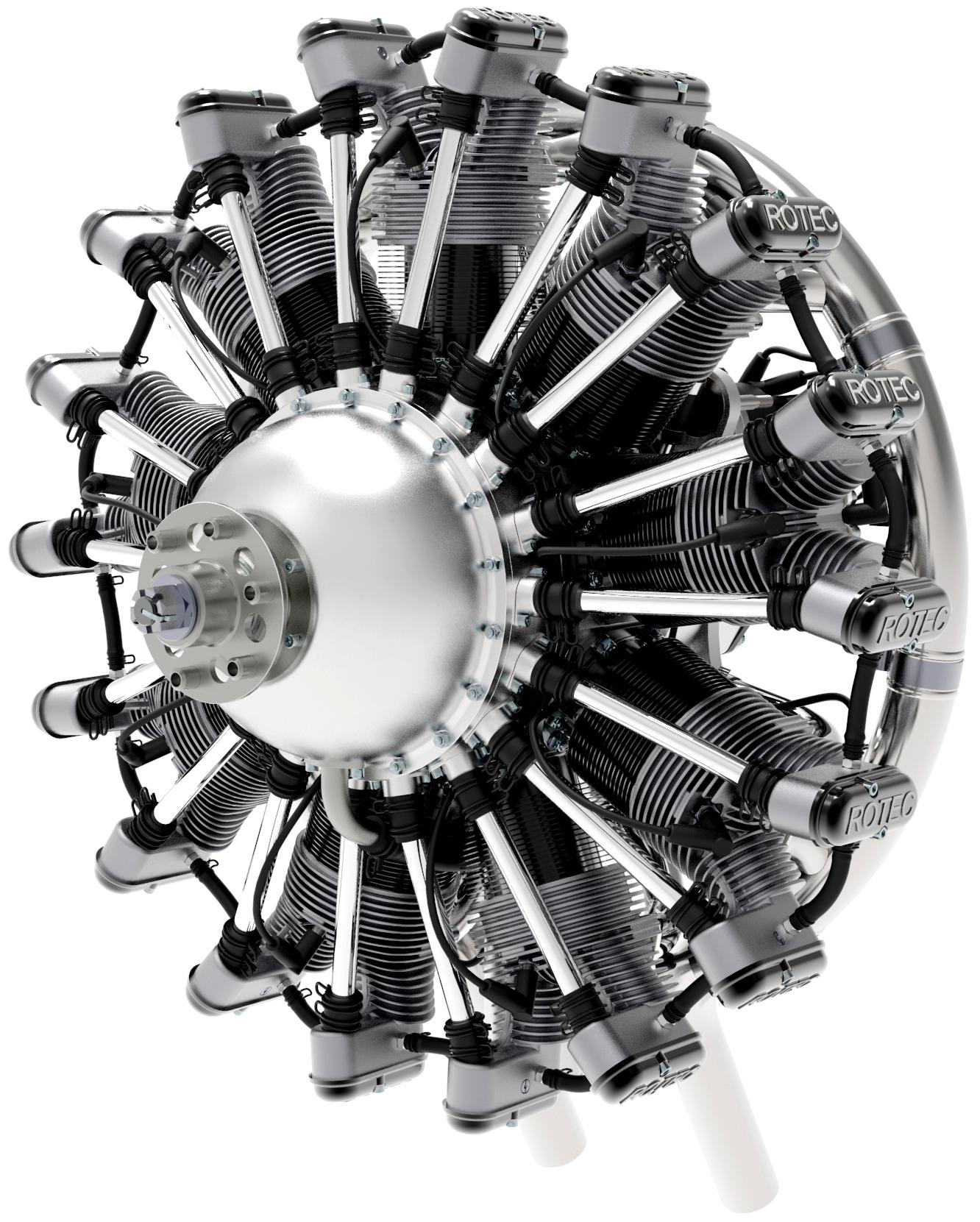 Radial Engine Renderings | Dan Cabral - Product Design Engineer