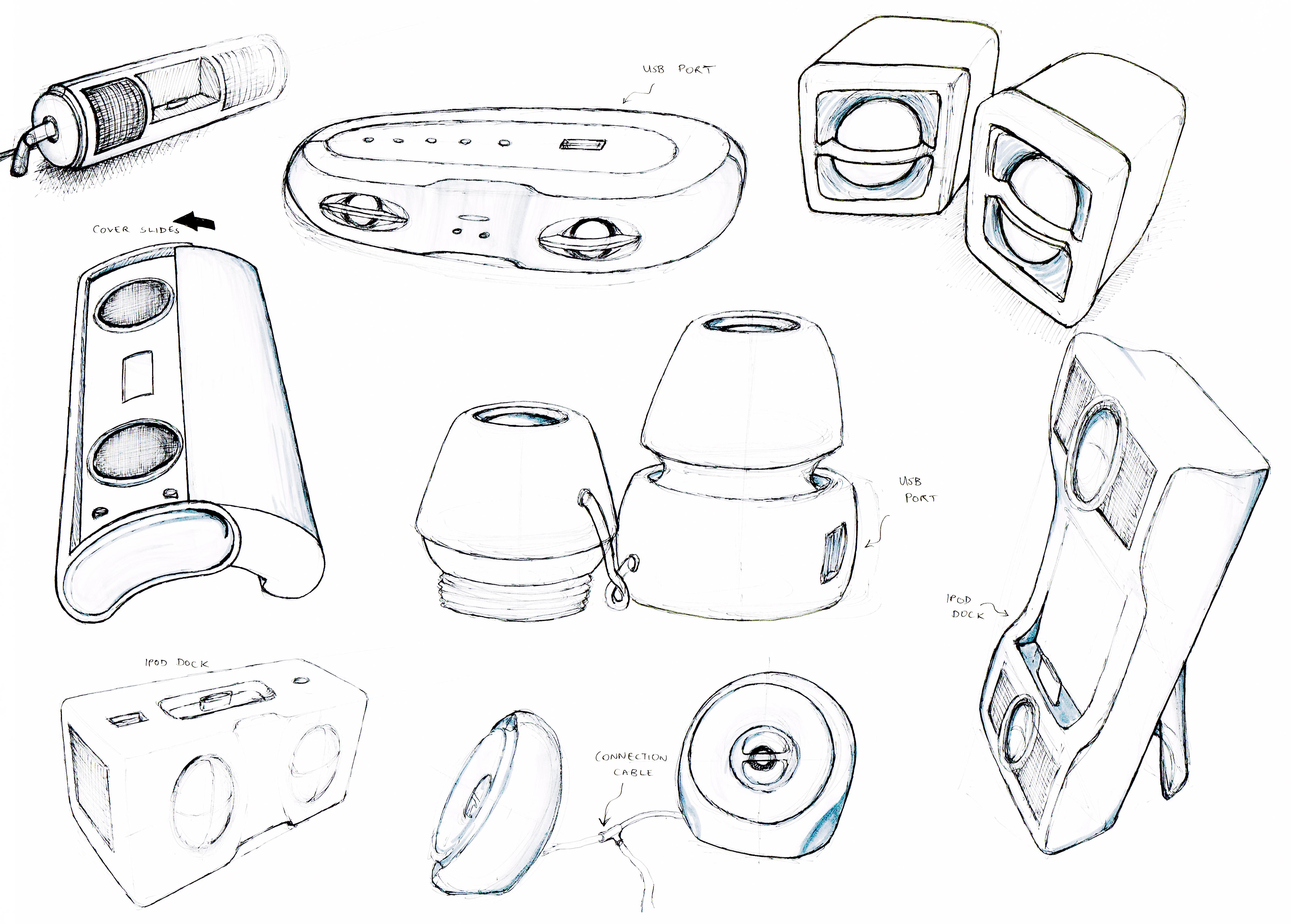 Speakers Sketch page 1