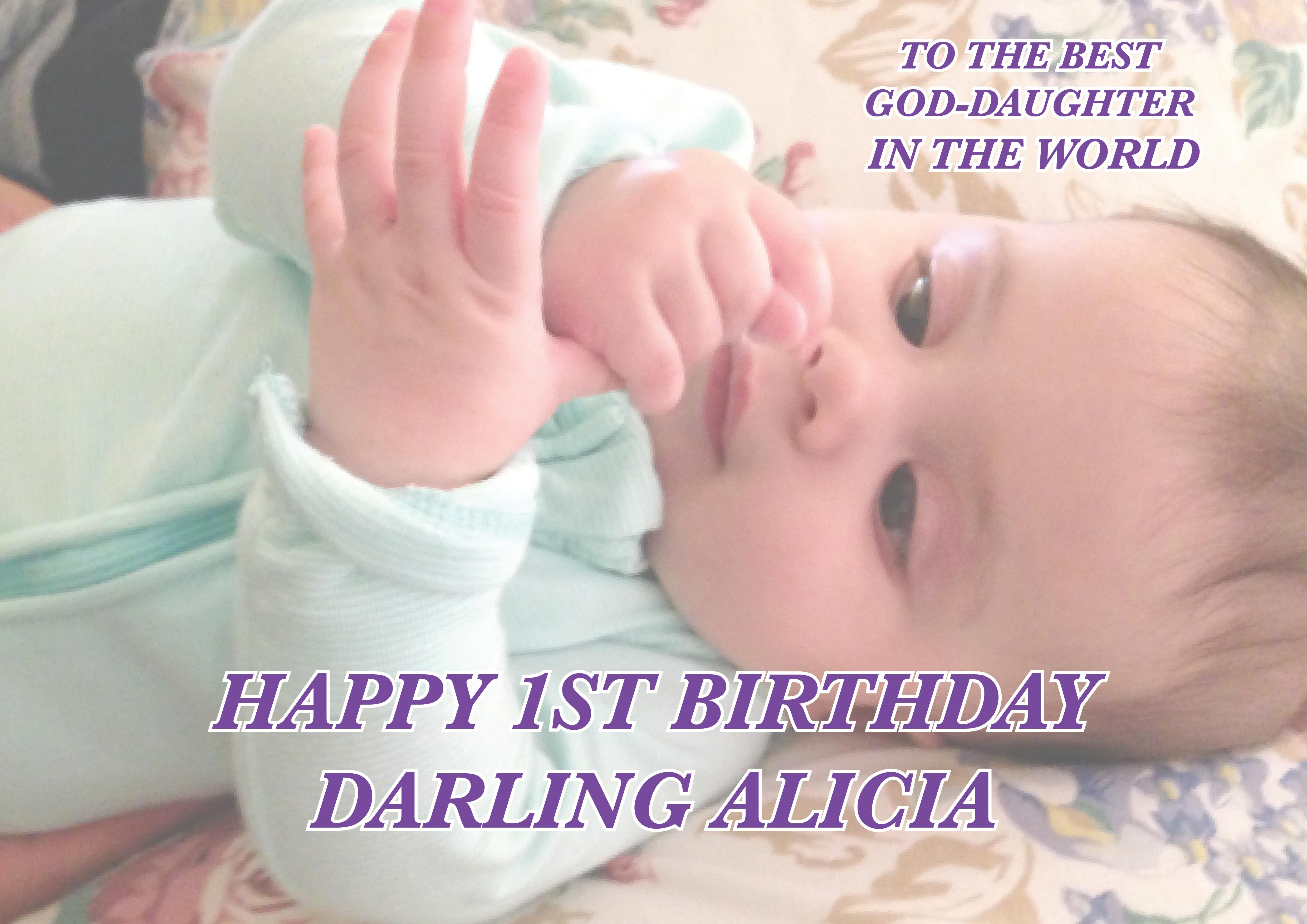 Alicia's 1st Birthday Card