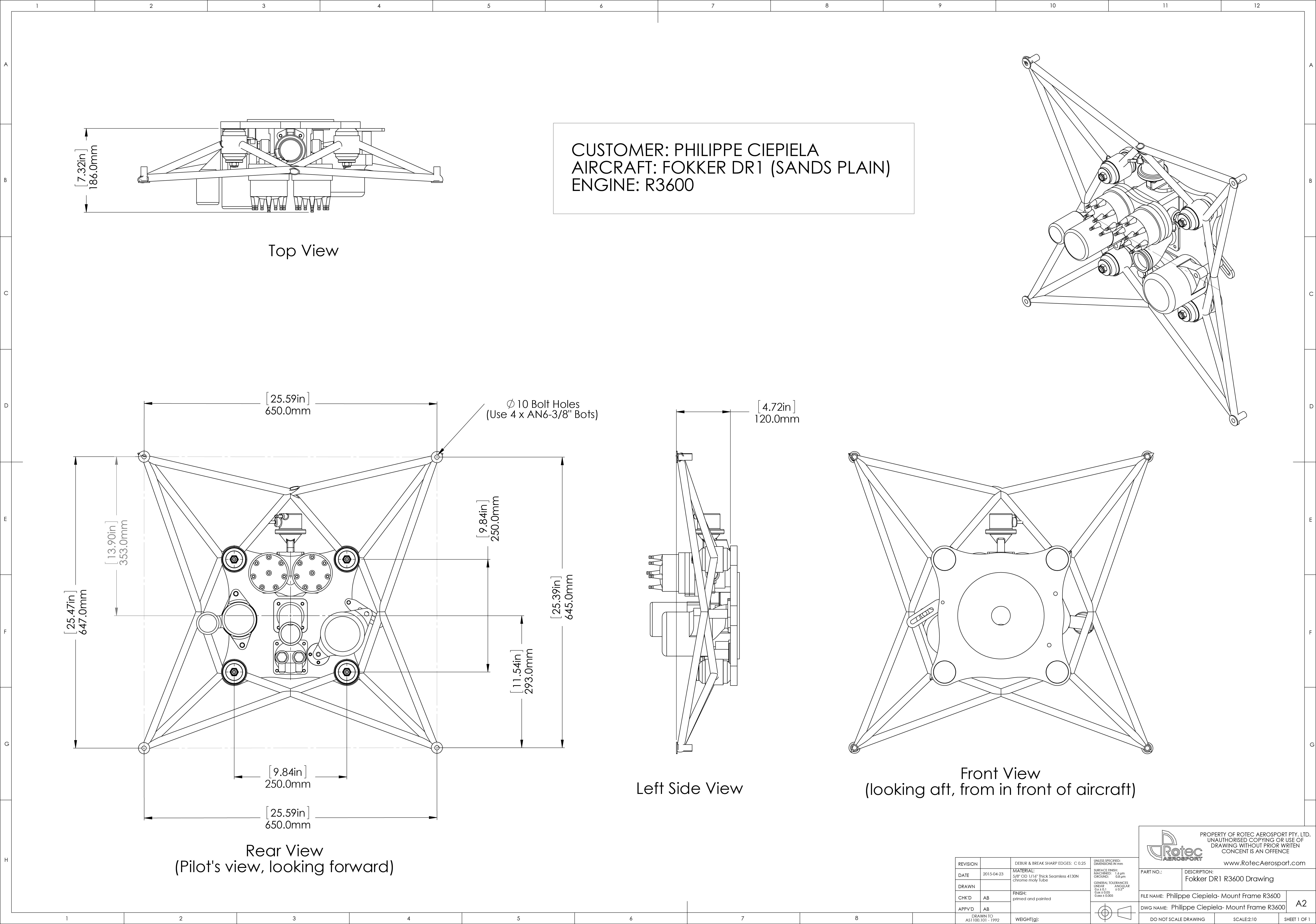 Engine Mount & Oil Tank designs | Dan Cabral - Product