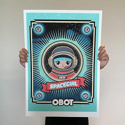 SpaceGirl Giclee Print