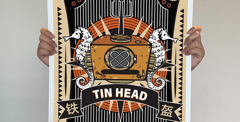 Tin Head Giclee Print