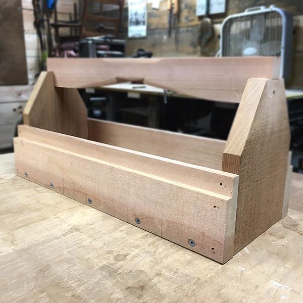 western red cedar toolbox