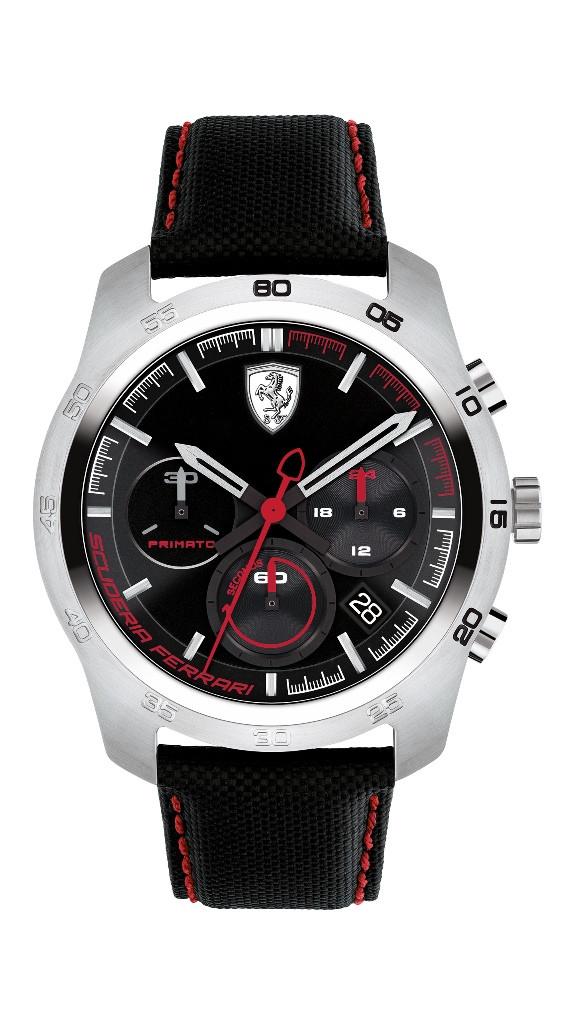 Tradicional linha de relógios  da Scuderia Ferrari apresenta nova coleção Primato