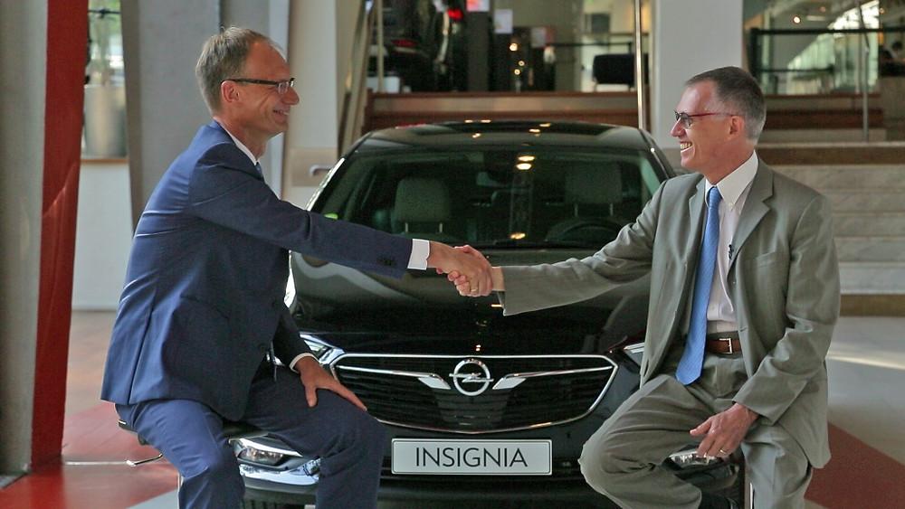 Carlos Tavares, Presidente Mundial do Grupo PSA e Michael Lohscheler CEO da Opel Vauxhall