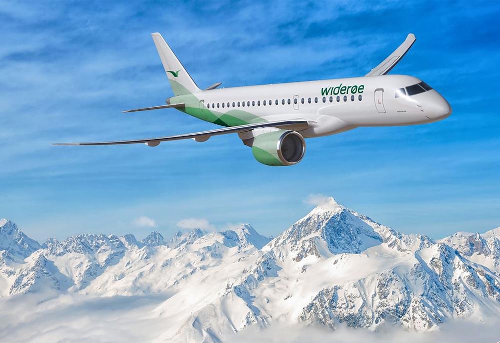 Embraer assina contrato com a Widerøe, da Noruega, para até 15 aeronaves E2
