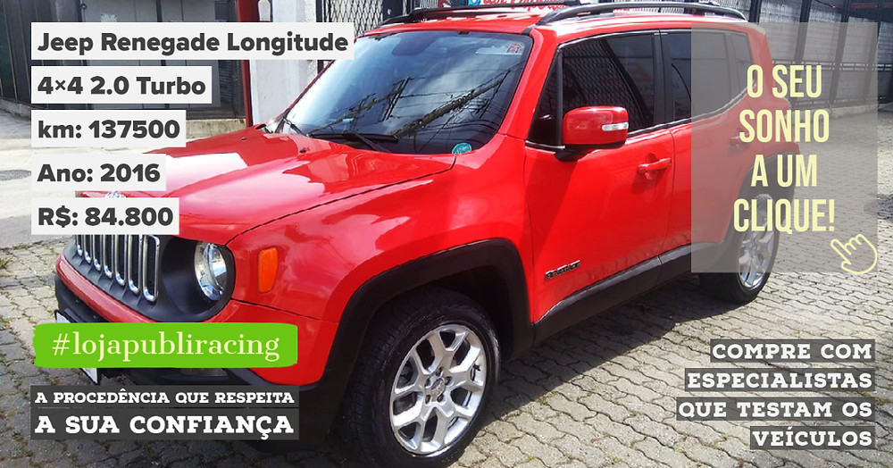 ACESSE #LOJA PUBLIRACING - Jeep Renegade Turbo Diesel Ano 2016