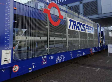 Ferrovia: Transfesa estreia vagões com eixos telescópicos para transporte de carros