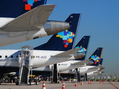 Azul confirma que operações como ponte aérea continuarão no Santos Dumont mesmo durante as obras no