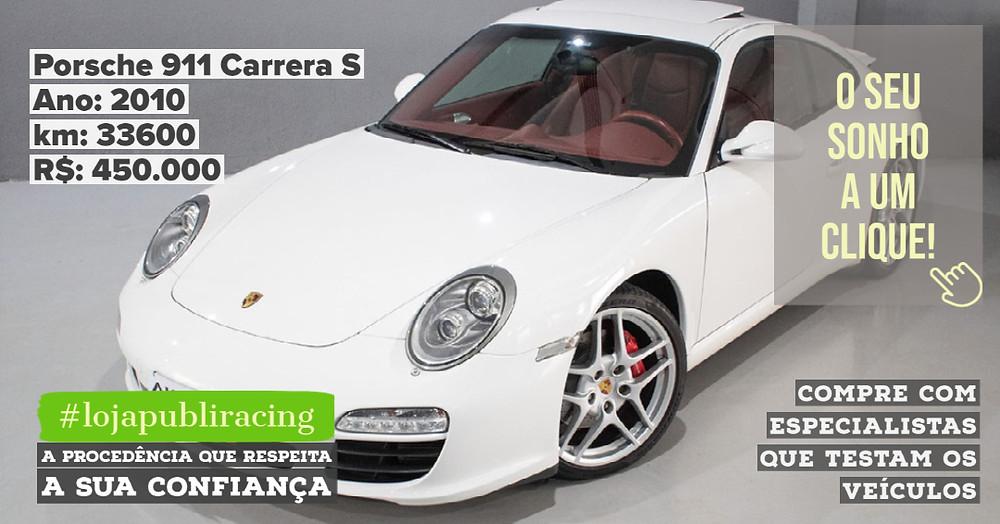 ACESSE #LOJA PUBLIRACING - Porsche 911 Carrera S Ano 2010