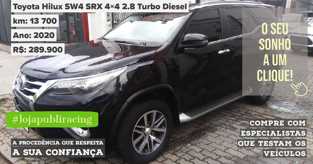 ACESSE #LOJA PUBLIRACING - Toyota SW4 SRX Turbo Diesel